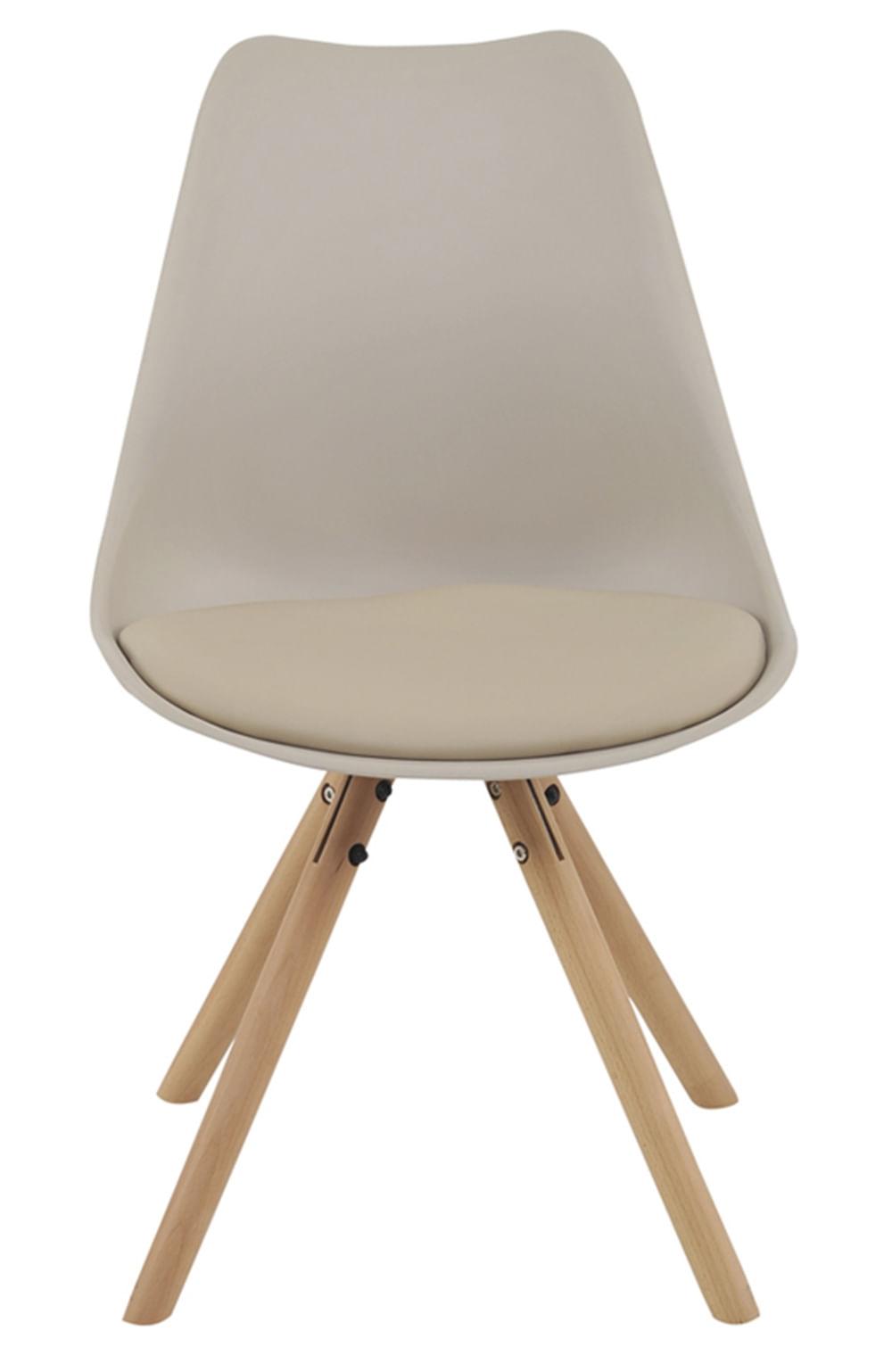 Cadeira Luisa Eames Polipropileno Nude Base Madeira - 53295
