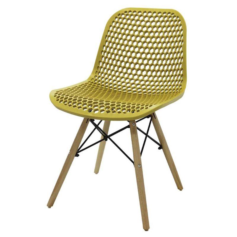 Cadeira-Rock-Polipropileno-Amarelo-Ocre-Base-Madeira---47893