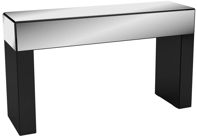 Aparador Cambuci com Espelhos cor Preto Brilho 1,41 MT (LARG) - 10765