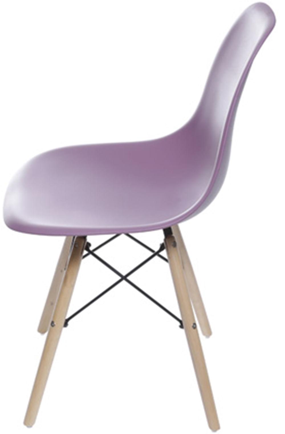 Cadeira Eames Polipropileno Roxa Base Madeira - 53428
