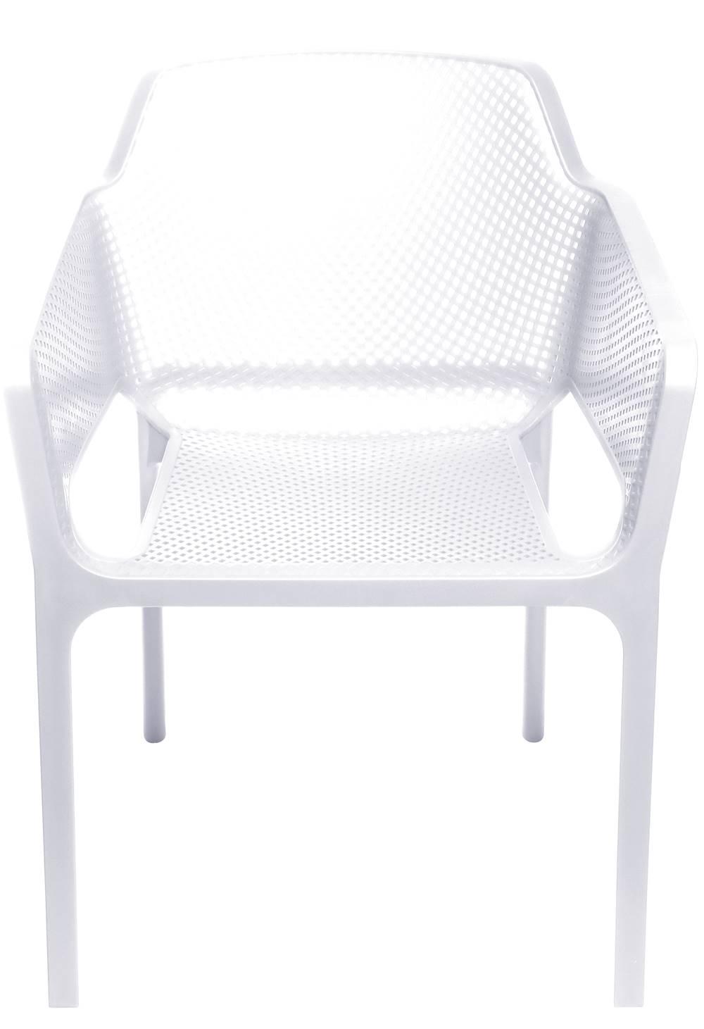 Cadeira Net Nard Empilhavel Polipropileno com Braco cor Branco - 53565