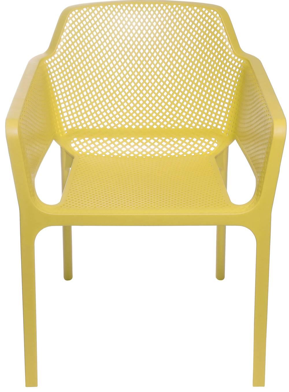 Cadeira Net Nard Empilhavel Polipropileno com Braco cor Amarelo - 53568