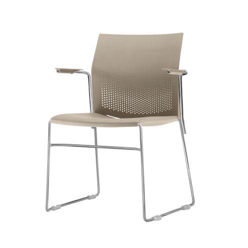 Cadeira-Connect-com-Braco-Assento-Bege-Base-Fixa-Cromada---53796-