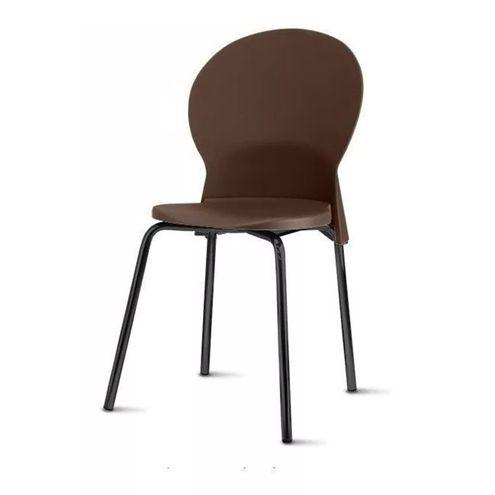 Cadeira-Luna-Assento-Marrom-Base-Preta---53845