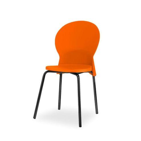 Cadeira-Luna-Assento-Laranja-Base-Preta---53831