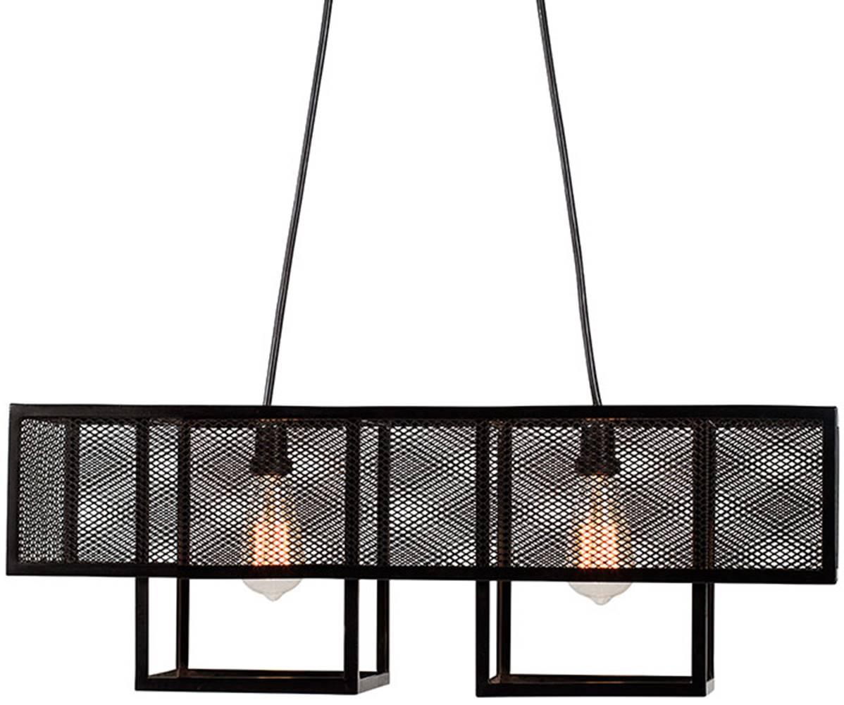 Luminaria Pendente Calisto Estrutura em Barra Chata de Ferro cor Preto 73cm (LARG) - 53561