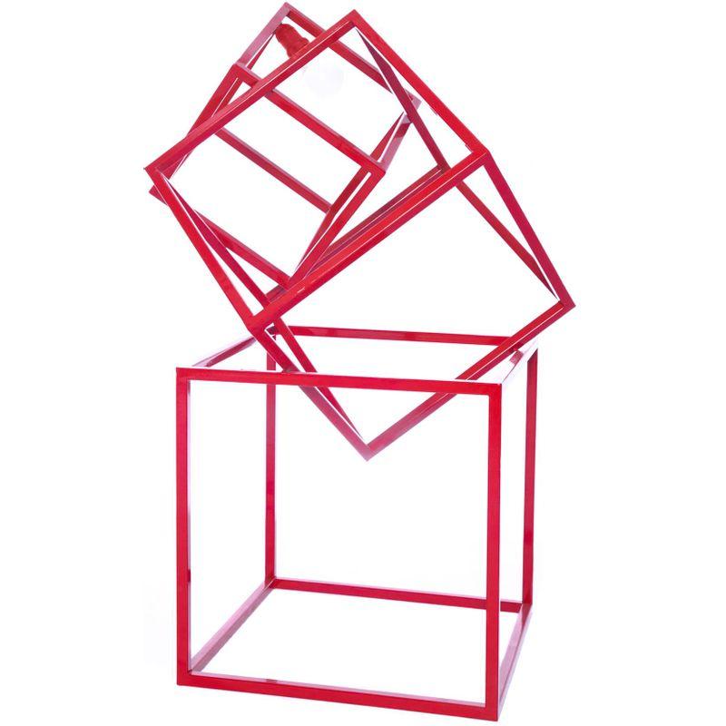 Luminaria-de-Chao-Lampe-Estrutura-de-Tubo-de-Ferro-cor-Vermelho-090-cm--ALT----54068