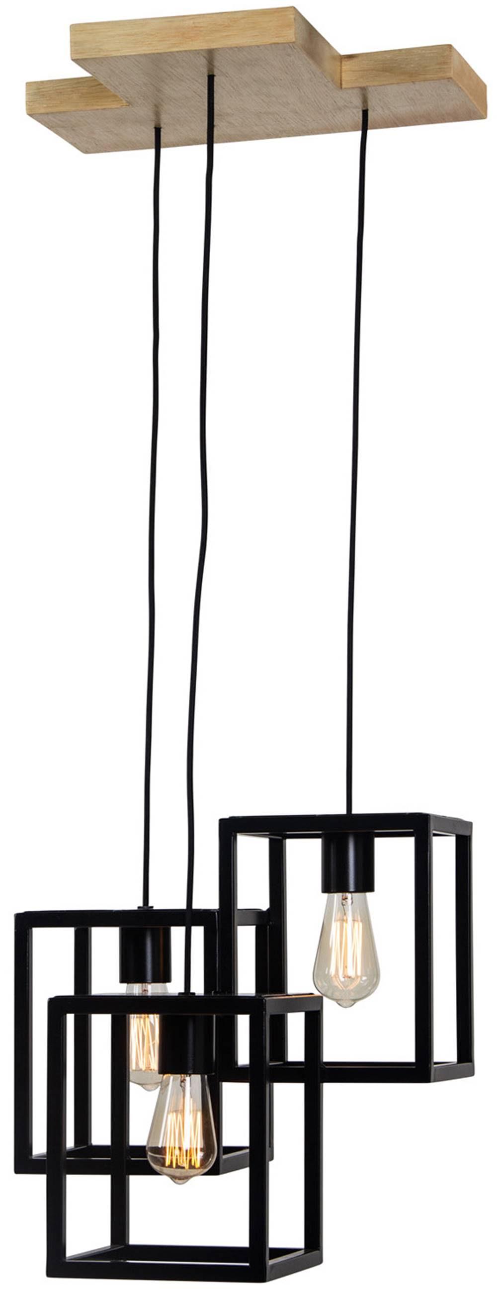 Luminaria Pendente Club Estrutura de Tubo de Ferro cor Preto 43cm (LARG) - 54137