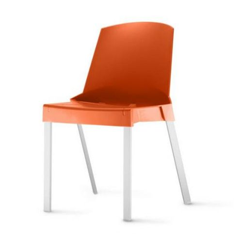Cadeira-Shine-Assento-Laranja-Base-Aluminio-Cinza---54177