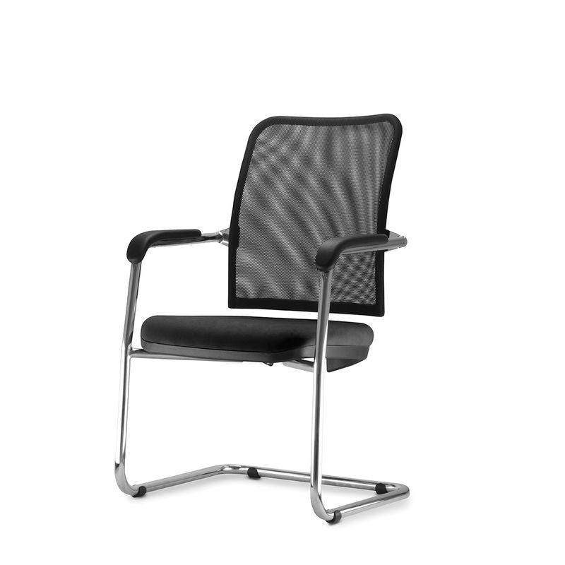 Cadeira-Soul-Assento-em-Courissimo-Preto-Base-Fixa-Cromada---54254-