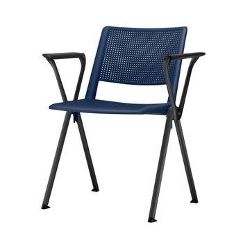 Cadeira-Up-com-Bracos-Assento-Azul-Base-Fixa-Preta---54309