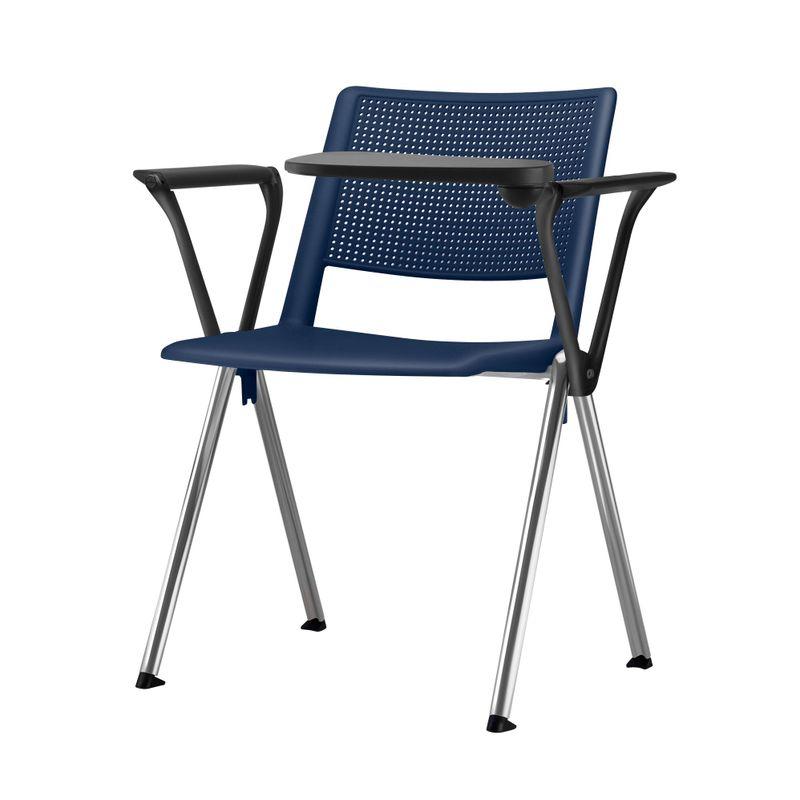 Cadeira-Up-com-Bracos-e-Prancheta-Assento-Azul-Base-Fixa-Preta---54313