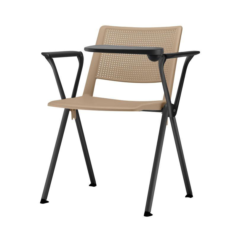 Cadeira-Up-com-Bracos-e-Prancheta-Assento-Bege-Base-Fixa-Preta---54322-