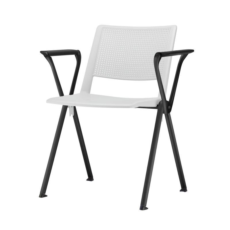 Cadeira-Up-com-Bracos-Assento-Branco-Base-Fixa-Preta---54326