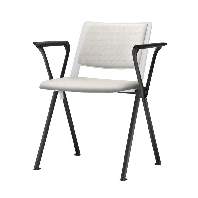 Cadeira-Up-com-Bracos-Assento-Estofado-Branco-Base-Fixa-Preta---54303