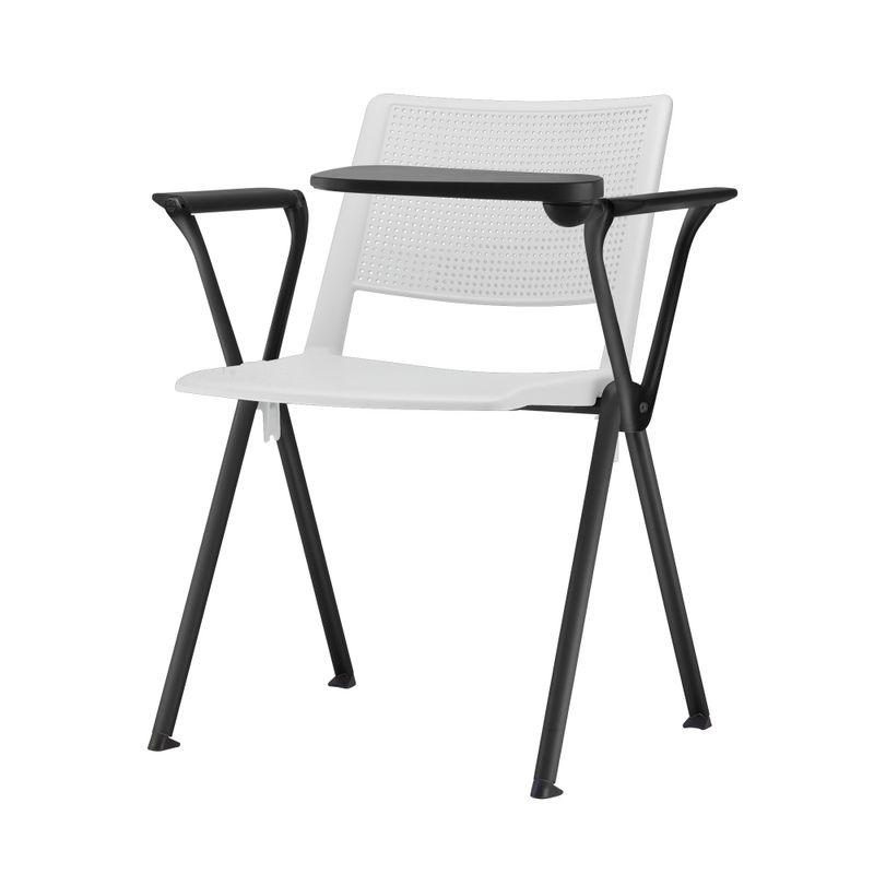 Cadeira-Up-com-Bracos-e-Prancheta-Assento-Branco-Base-Fixa-Preta---54329
