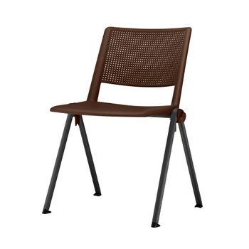 Cadeira-Up-Assento-Marrom-Base-Fixa-Preta---54330
