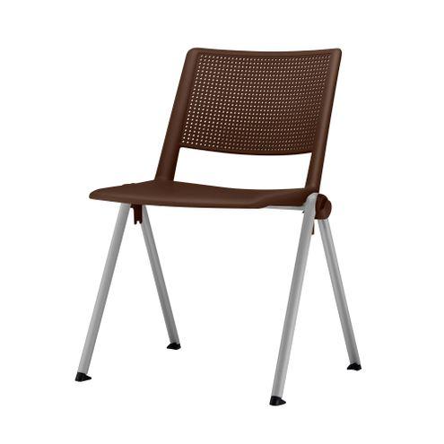 Cadeira-Up-Assento-Marrom-Base-Fixa-Cinza---54331
