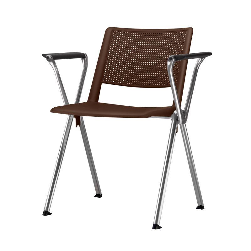 Cadeira-Up-com-Bracos-Assento-Marrom-Base-Fixa-Cromada---54334