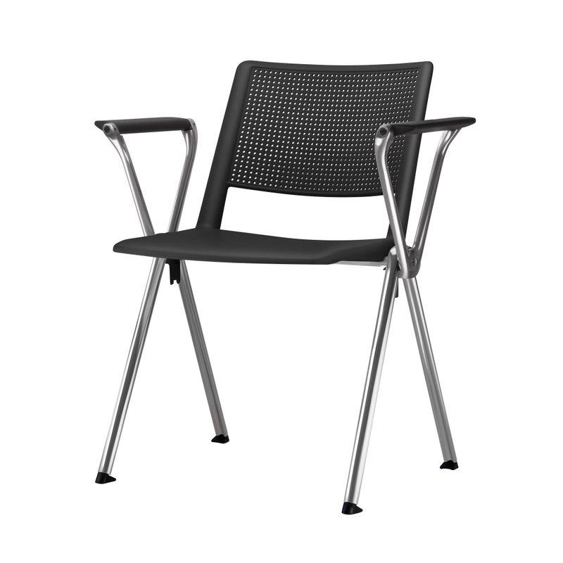 Cadeira-Up-com-Bracos-Assento-Preto-Base-Fixa-Cromada---54290