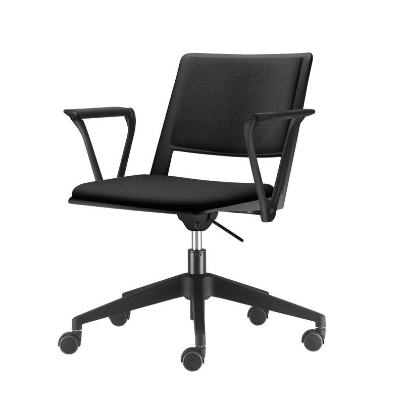 Cadeira-Up-com-Bracos-Assento-Estofado-Preto-Base-Rodizio-Piramidal-em-Nylon---54296-