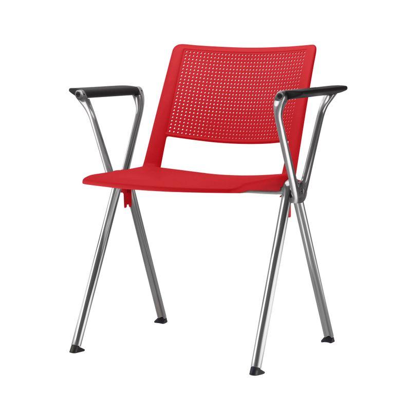 Cadeira-Up-com-Bracos-Assento-Vermelho-Base-Fixa-Cromada---54343