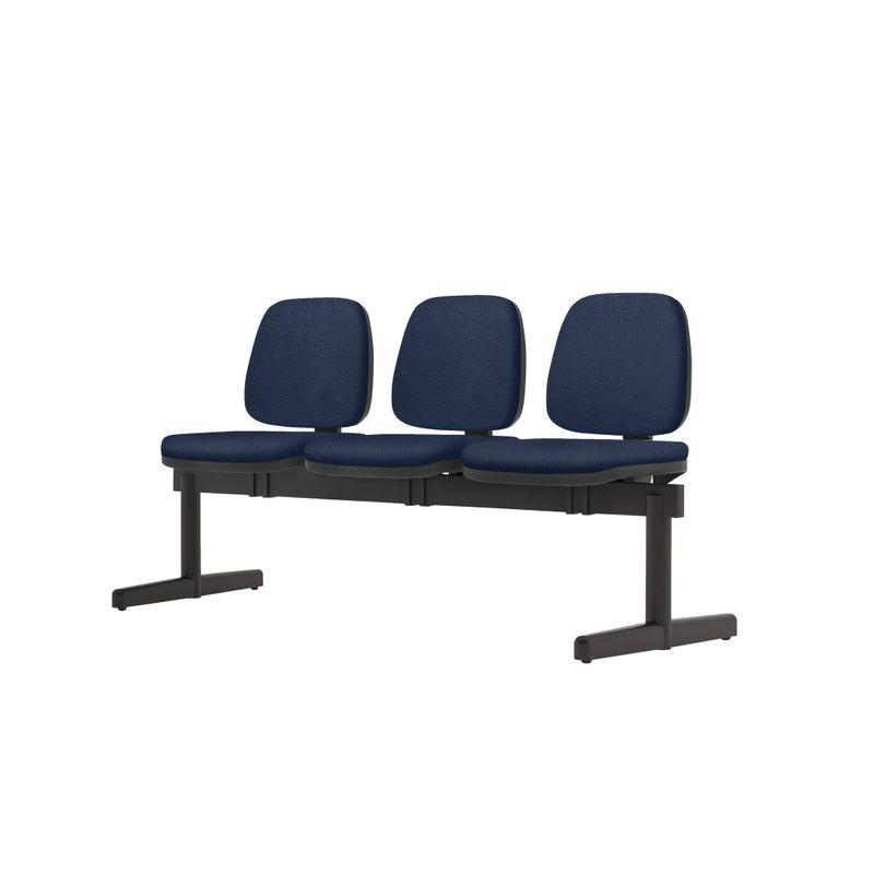 Longarina-Job-3-Lugares-Assento-Crepe-Azul-Base-Metalica-Preta---54525-