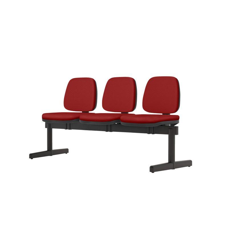Longarina-Job-3-Lugares-Assento-Crepe-Vermelho-Base-Metalica-Preta---54528