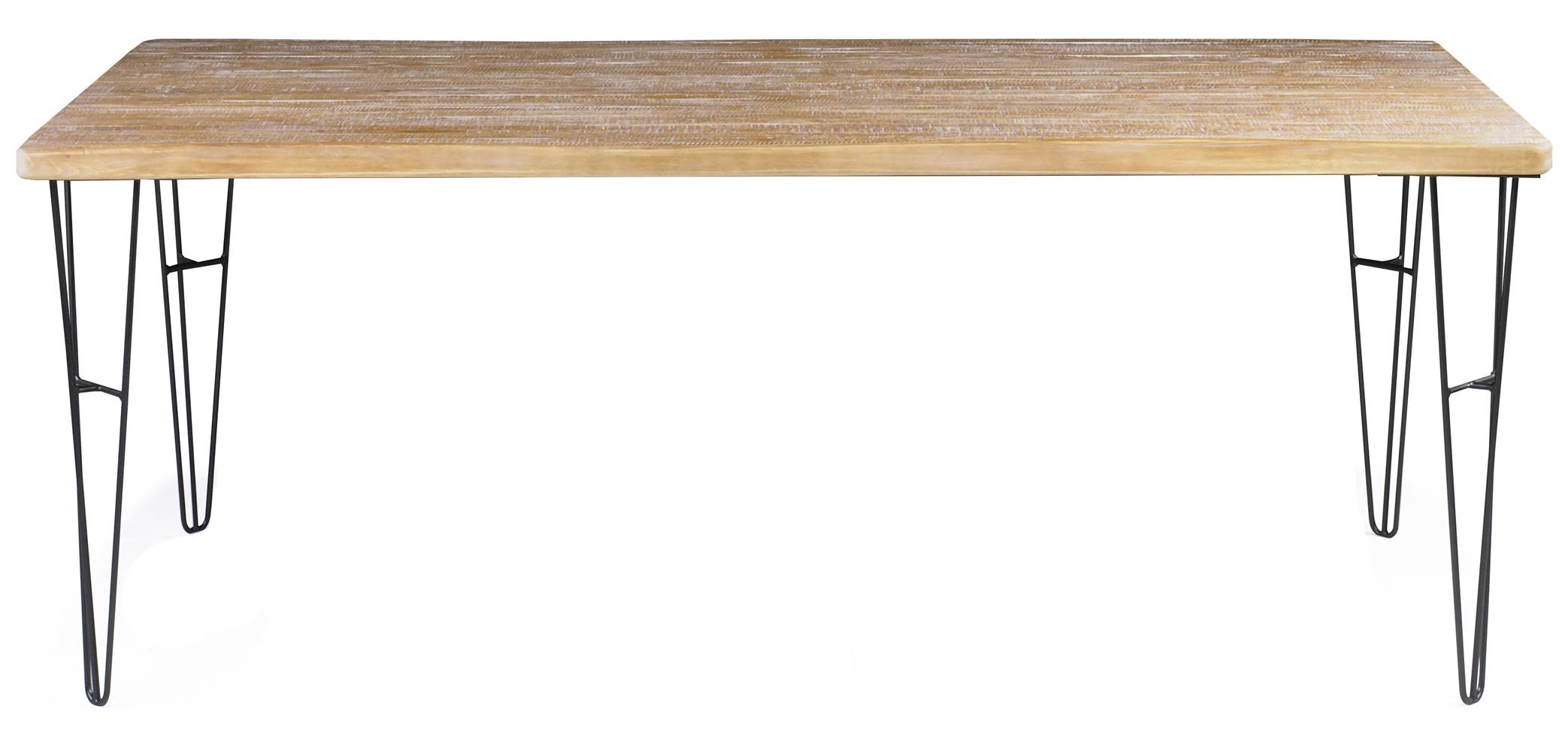 Mesa Jantar Bronx Retangular Live Edge Driftwood Base Grafite 1,90 MT (LARG) - 49942