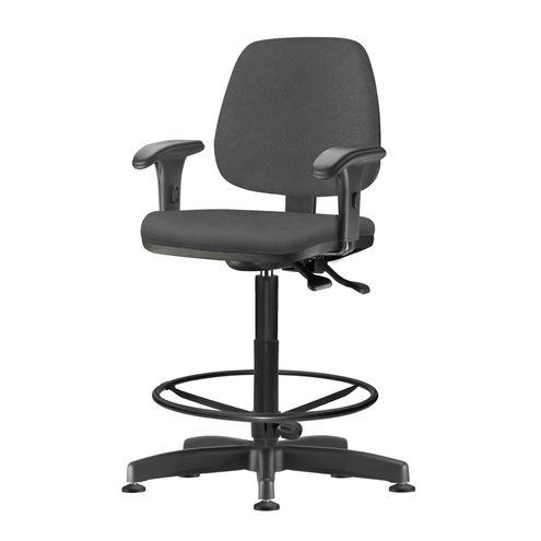 Cadeira-Job-com-Bracos-Assento-Crepe-Cinza-Escuro-Base-Caixa-Metalica-Preta---54531-