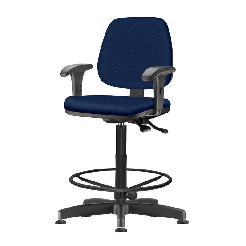 Cadeira-Job-com-Bracos-Assento-Courino-Azul-Base-Caixa-Metalica-Preta---54535