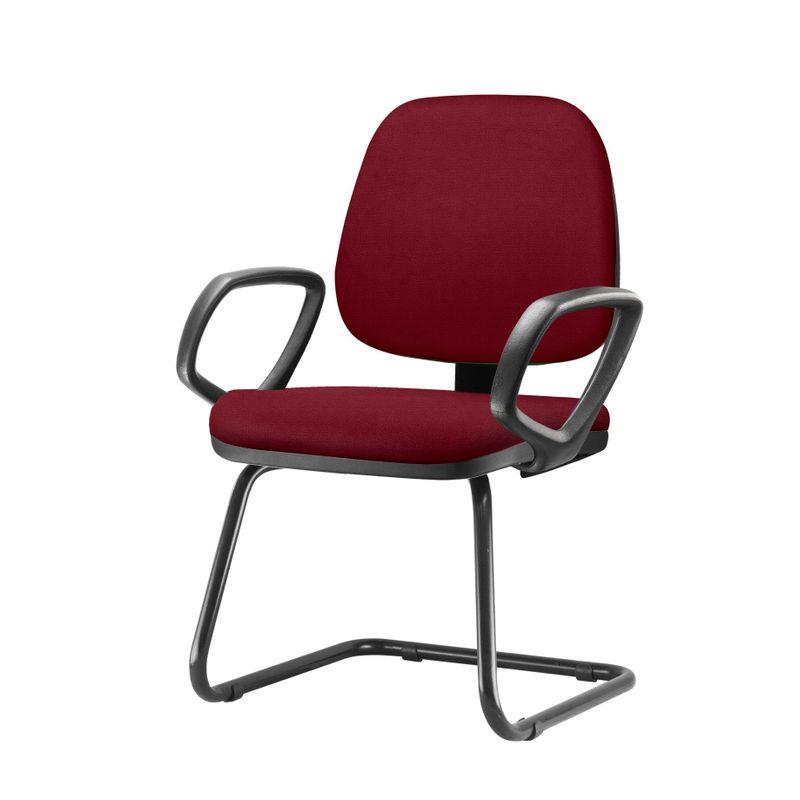 Cadeira-Job-Com-Bracos-Fixos-Assento-Crepe-Vinho-Base-Fixa-Preta---54549