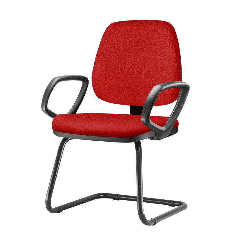 Cadeira-Job-Com-Bracos-Fixos-Assento-Crepe-Vermelho-Base-Fixa-Preta---54550