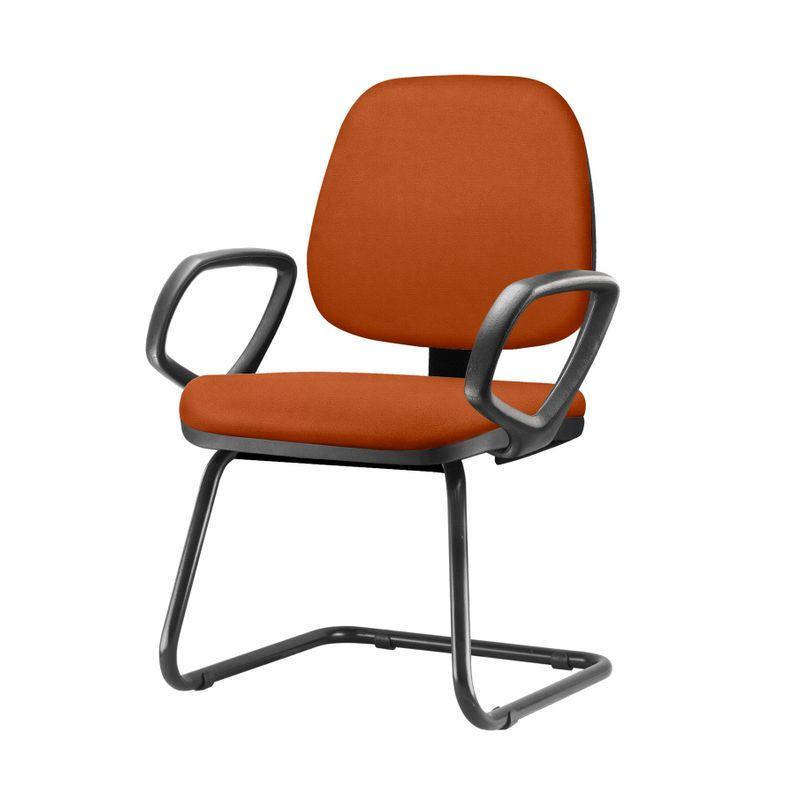 Cadeira-Job-Com-Bracos-Fixos-Assento-Crepe-Laranja-Base-Fixa-Preta---54551-
