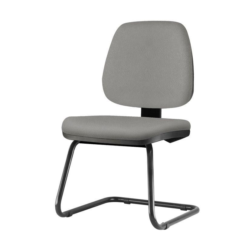 Cadeira-Job-Assento-Crepe-Cinza-Claro-Base-Fixa-Preta---54558