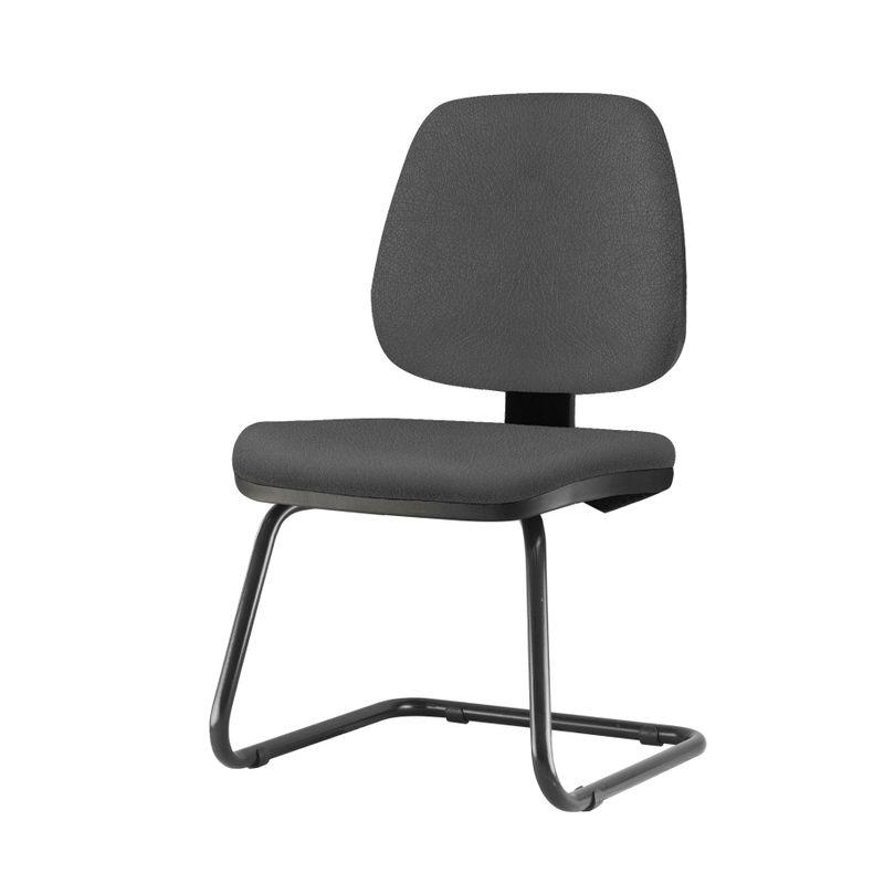 Cadeira-Job-Assento-Crepe-Cinza-Escuro-Base-Fixa-Preta---54563