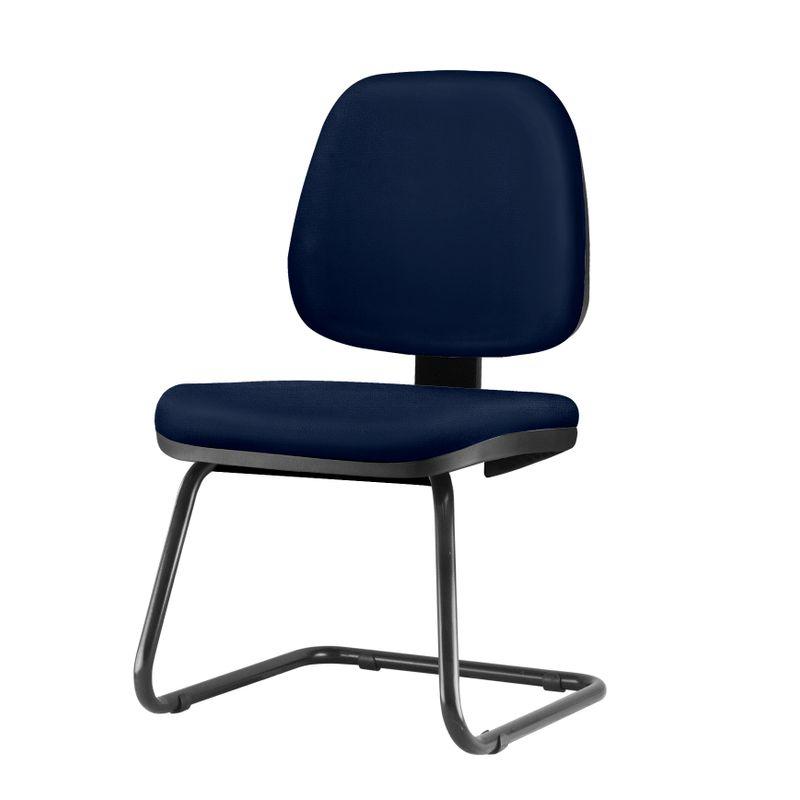 Cadeira-Job-Assento-Crepe-Azul-Escuro-Base-Fixa-Preta---54566