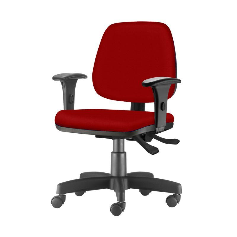 Cadeira-Job-com-Bracos-Assento-Courino-Vermelho-Base-Rodizio-Metalico-Preto---54599