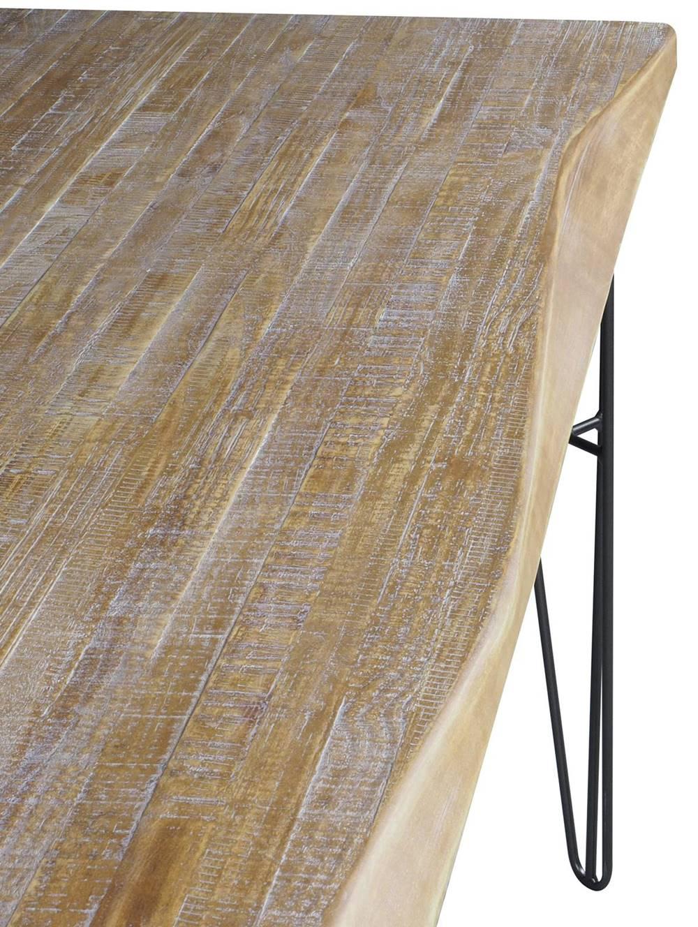 Mesa Jantar Bronx Retangular Live Edge Driftwood Base Grafite 2,20 MT (LARG) - 54481