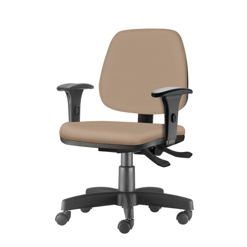 Cadeira-Job-com-Bracos-Assento-Crepe-Bege-Base-Rodizio-Metalico-Preto---54600