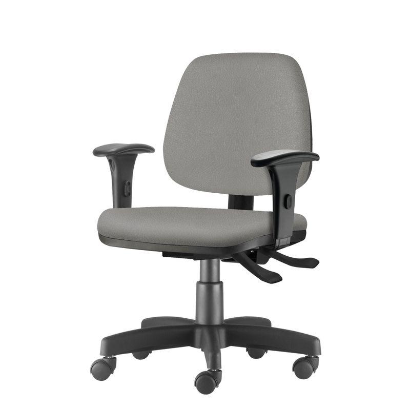 Cadeira-Job-com-Bracos-Assento-Crepe-Cinza-Claro-Base-Rodizio-Metalico-Preto---54602
