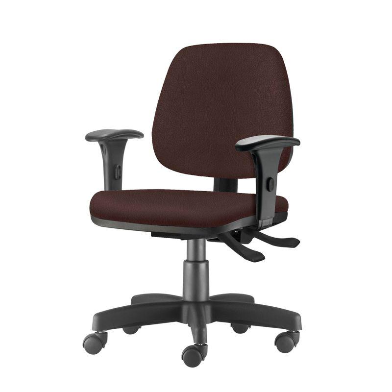 Cadeira-Job-com-Bracos-Assento-Courino-Marrom-Base-Rodizio-Metalico-Preto---54604-