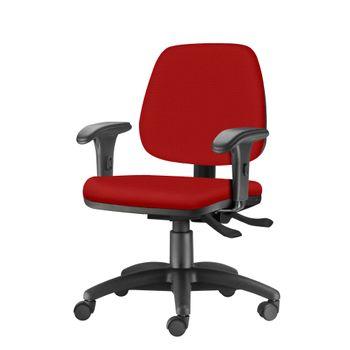 Cadeira-Job-com-Bracos-Curvados-Assento-Crepe-Vermelho-Base-Rodizio-Metalico-Preto---54617-