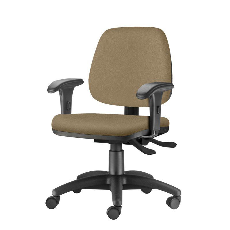 Cadeira-Job-com-Bracos-Curvados-Assento-Courino-Marrom-Claro-Base-Rodizio-Metalico-Preto---54620