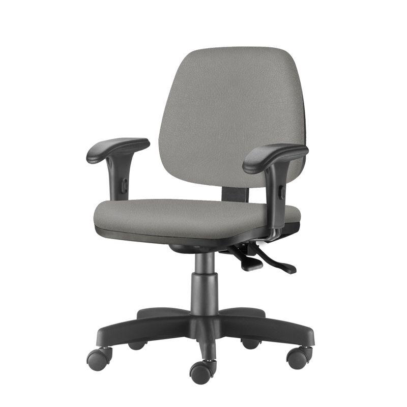 Cadeira-Job-com-Bracos-Curvados-Assento-Crepe-Cinza-Claro-Base-Rodizio-Metalico-Preto---54625-