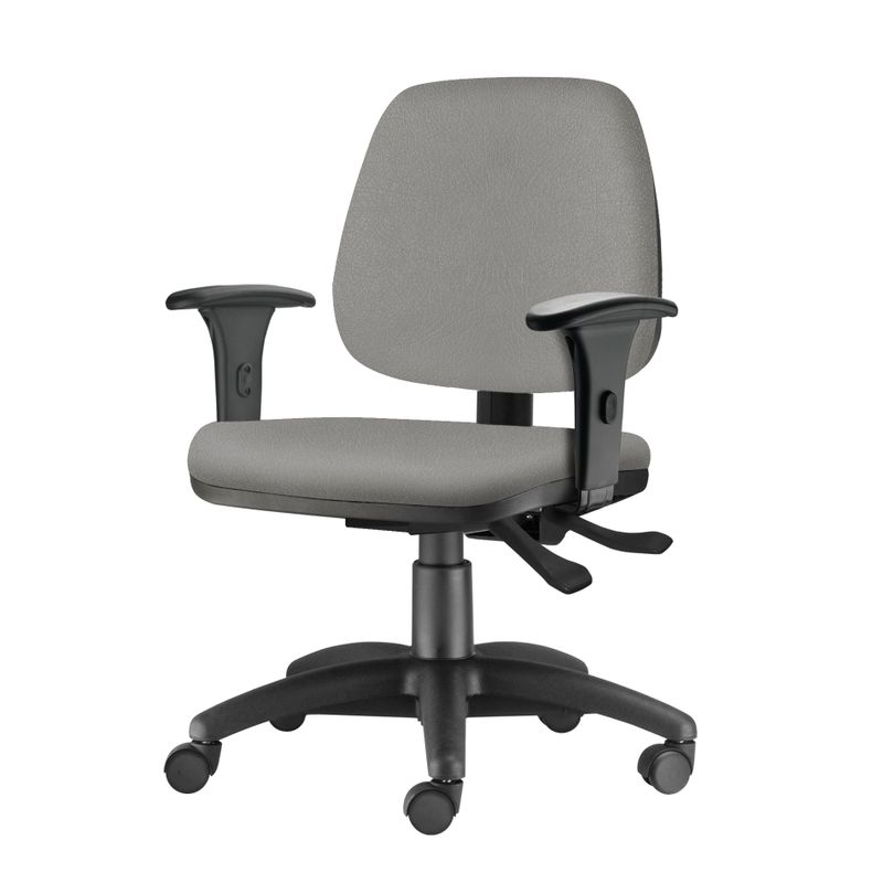 Cadeira-Job-com-Bracos-Semi-Curvados-Assento-Courino-Cinza-Claro-Base-Nylon-Arcada---54630