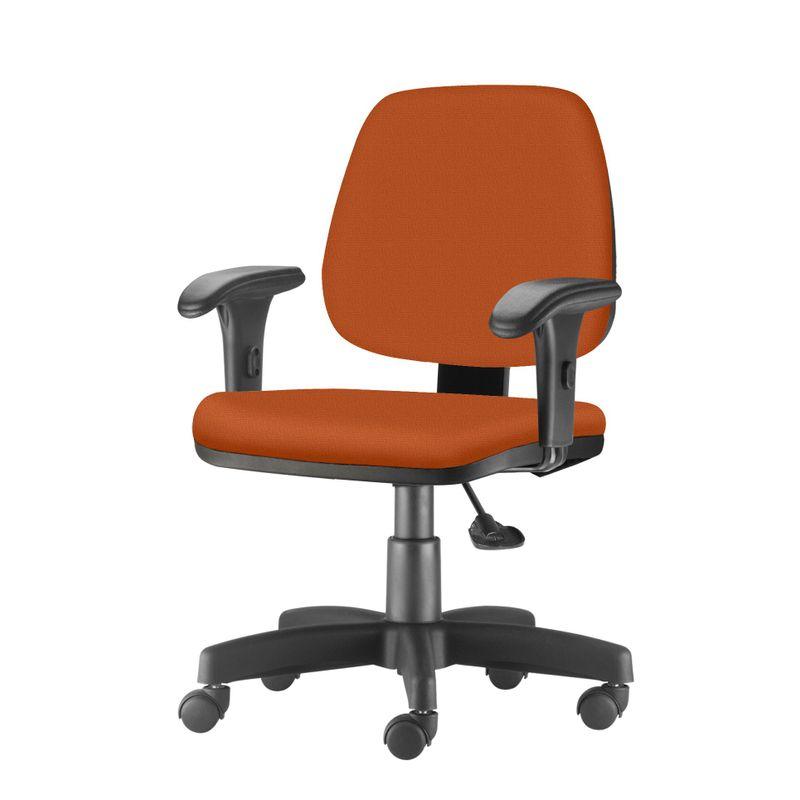 Cadeira-Job-com-Bracos-Curvados-Assento-Fixo-Crepe-Laranja-Base-Rodizio-Metalico-Preto---54632