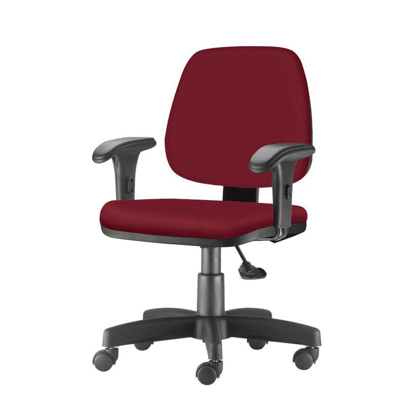 Cadeira-Job-com-Bracos-Curvados-Assento-Fixo-Crepe-Vinho-Base-Rodizio-Metalico-Preto---54633