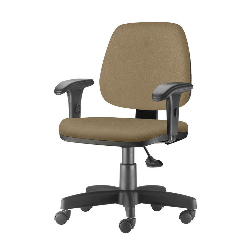 Cadeira-Job-com-Bracos-Curvados-Assento-Fixo-Courino-Marrom-Claro-Base-Rodizio-Metalico-Preto---54634