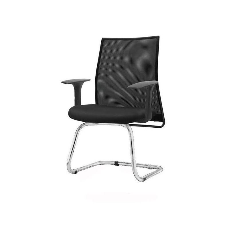 Cadeira-Liss-com-Braco-Fixo-Assento-Crepe-Preto-Base-Fixa-Cromada---54668
